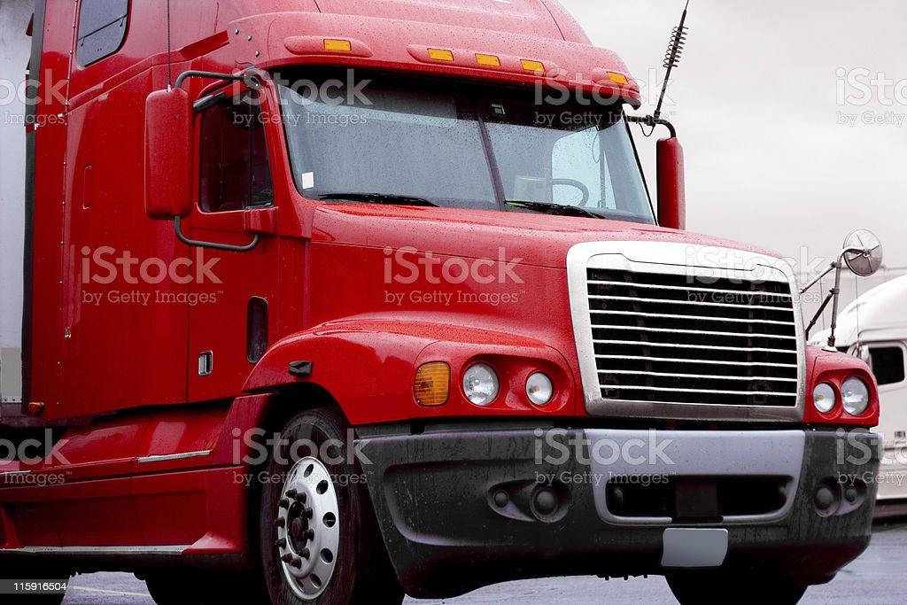 Semi Truck Cab stock photo