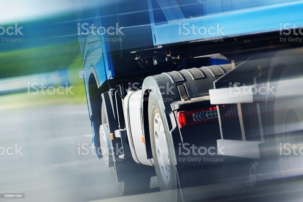 Semi Truck Spedition stock photo
