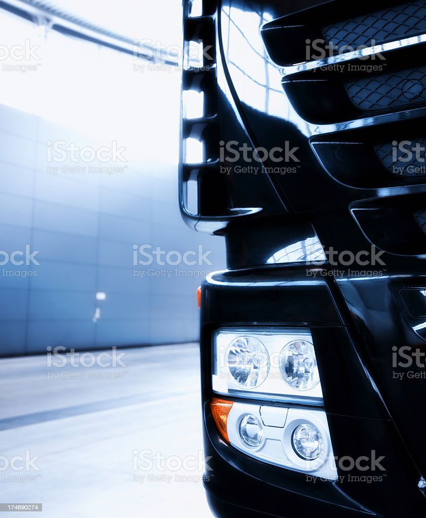 Semi Truck Front Detail View royalty-free stock photo