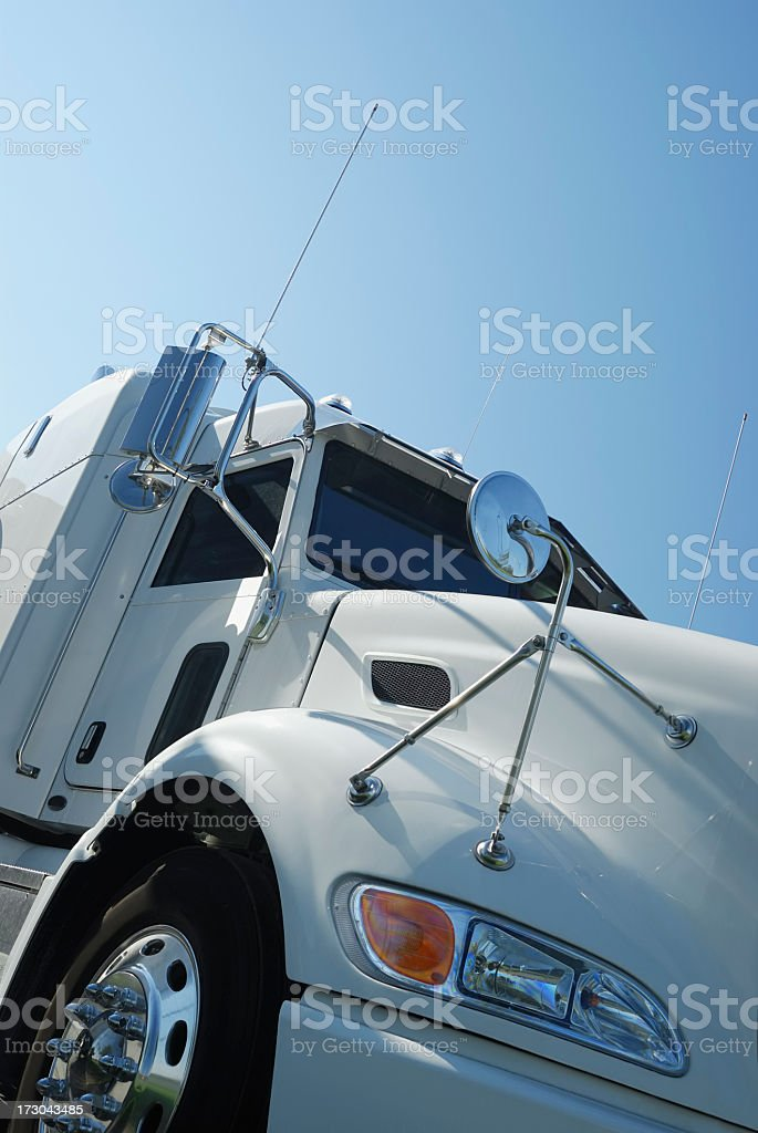 Semi truck getting ready for departure  royalty-free stock photo