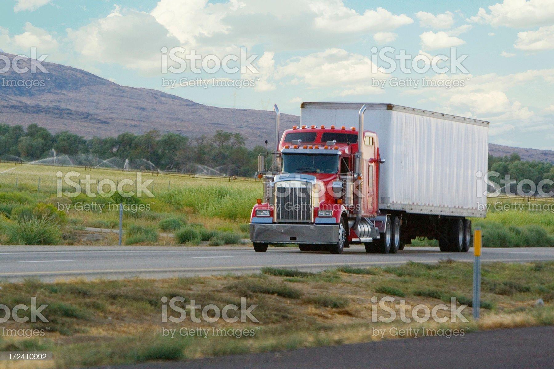 semi truck royalty-free stock photo