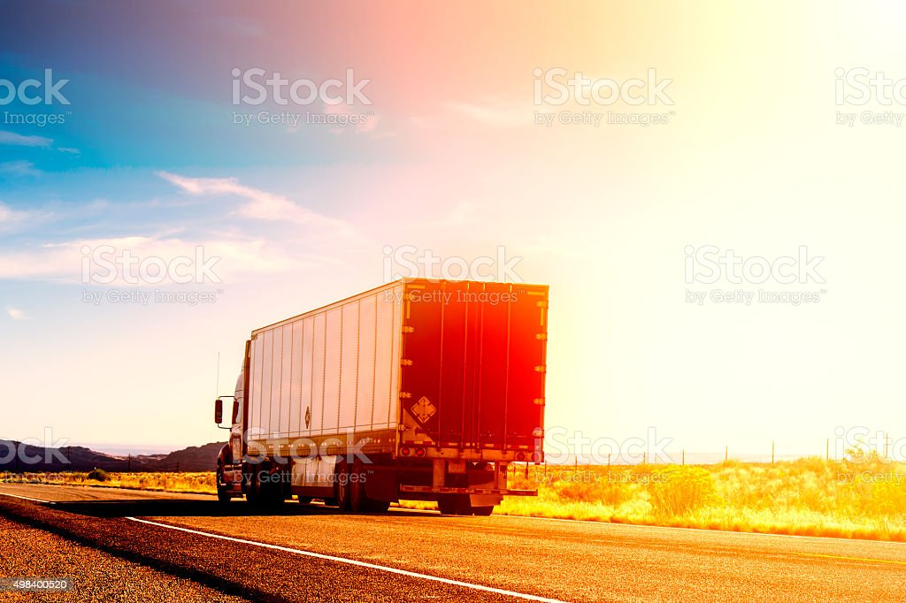 Semi truck stock photo