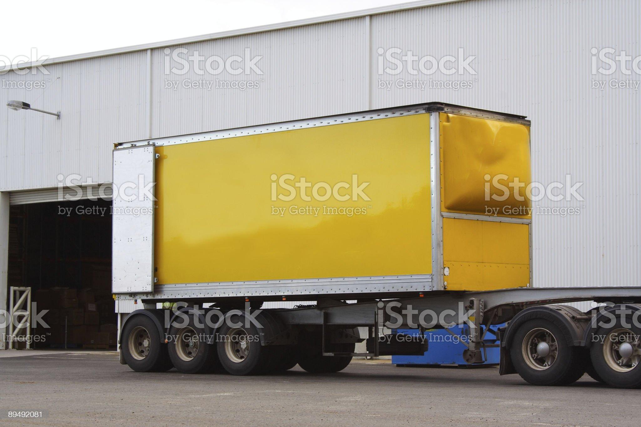Semi truck trailer royalty-free stock photo