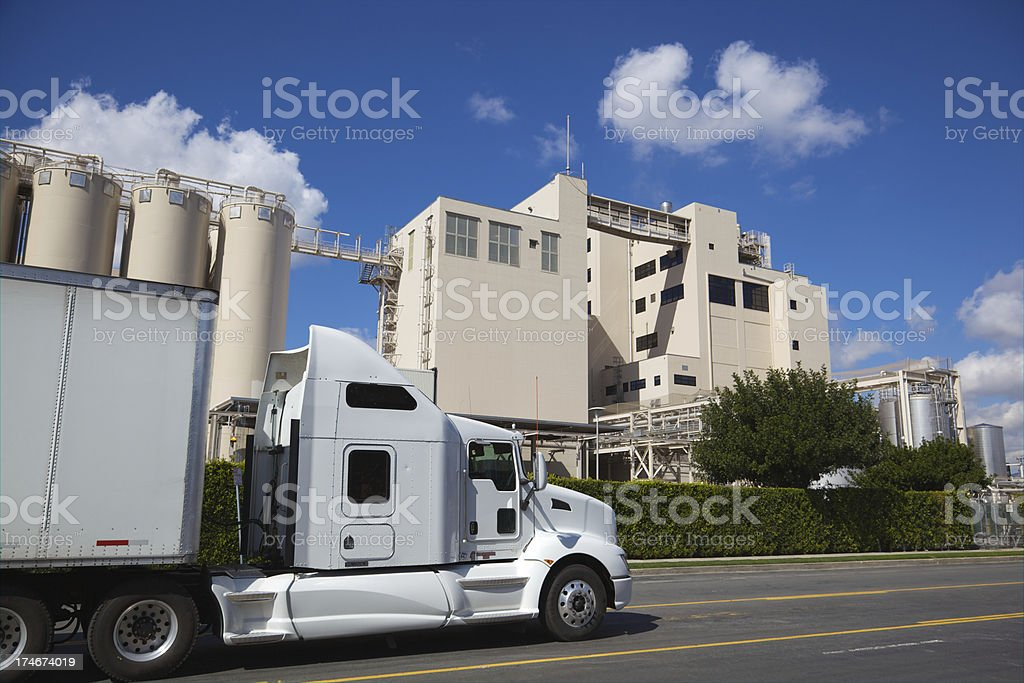 Semi Trucking for Manufacturing Factory XXXL royalty-free stock photo