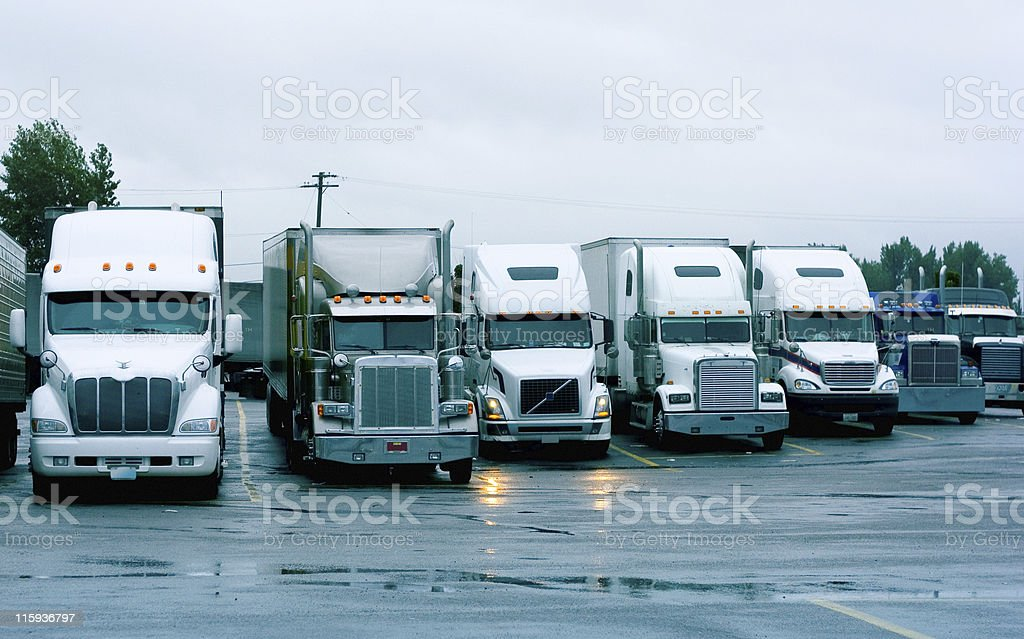 Semi Trucks royalty-free stock photo