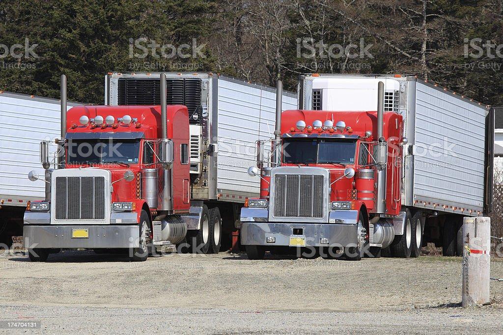Semi trucks stock photo