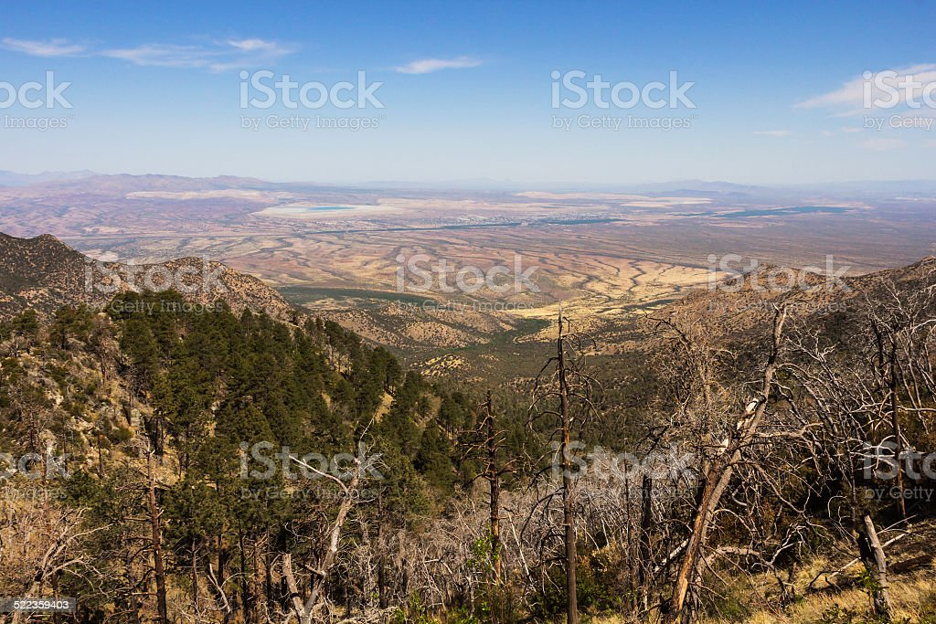Semi-arid landscape stock photo