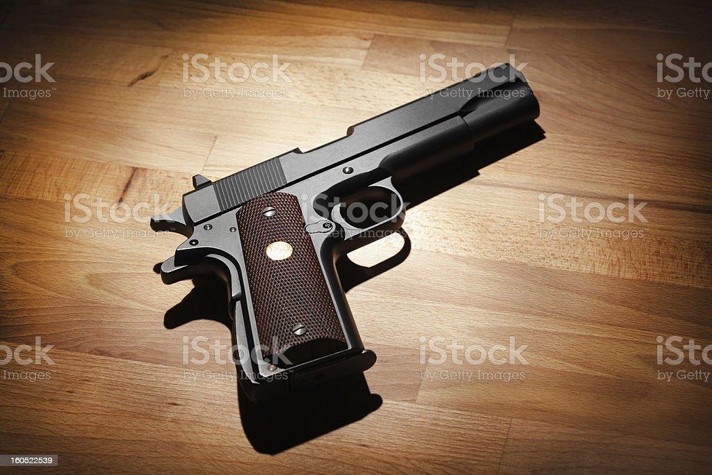 Semi-automatic .45 caliber  pistol royalty-free stock photo