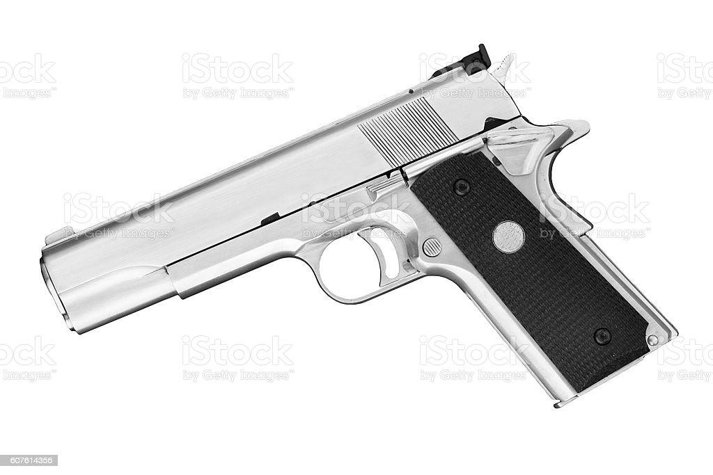 Semi-automatic handgun .45 pistol stock photo