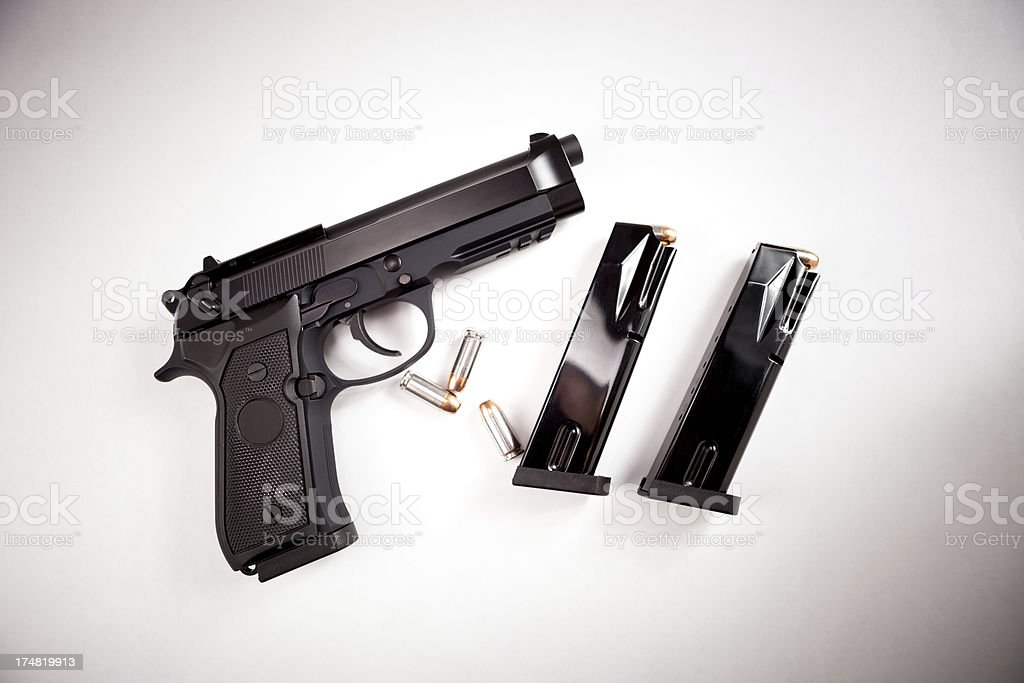 Semi-automatic handgun stock photo