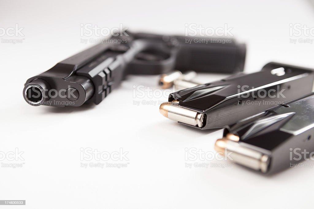 Semi-automatic handgun stock photo