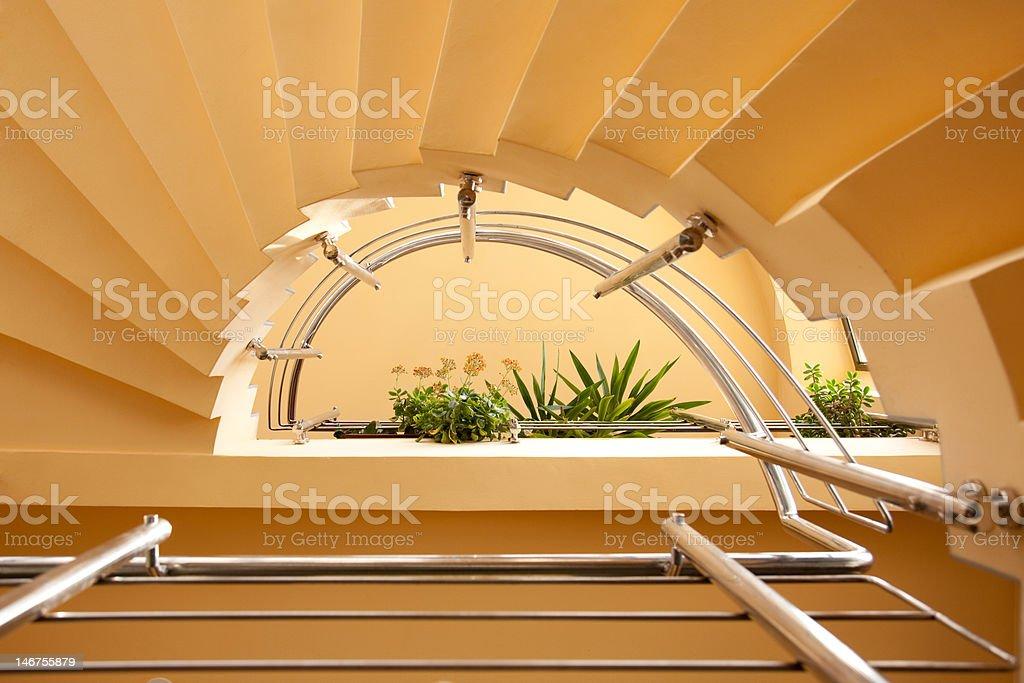 Semicircular stairs royalty-free stock photo
