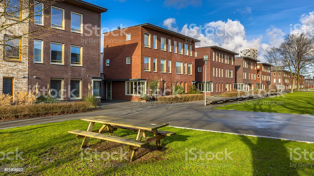 Semidetached family houses stock photo