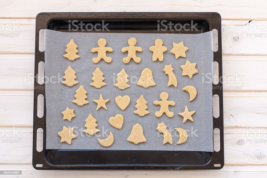 semifinished ginger cookies stock photo