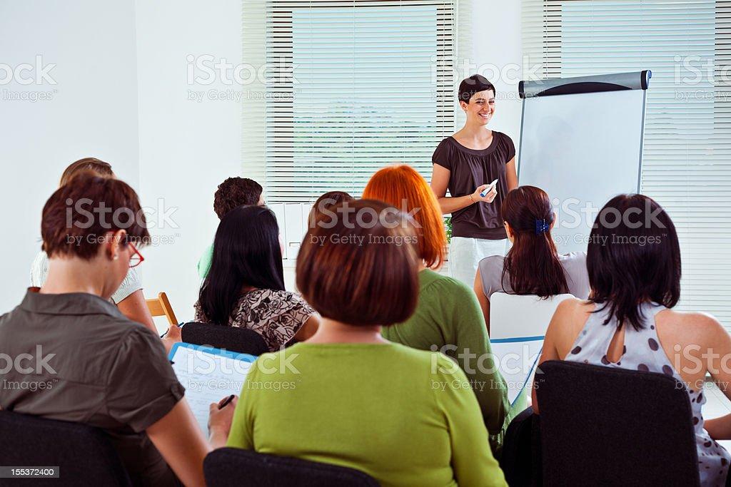 Seminar for woman royalty-free stock photo