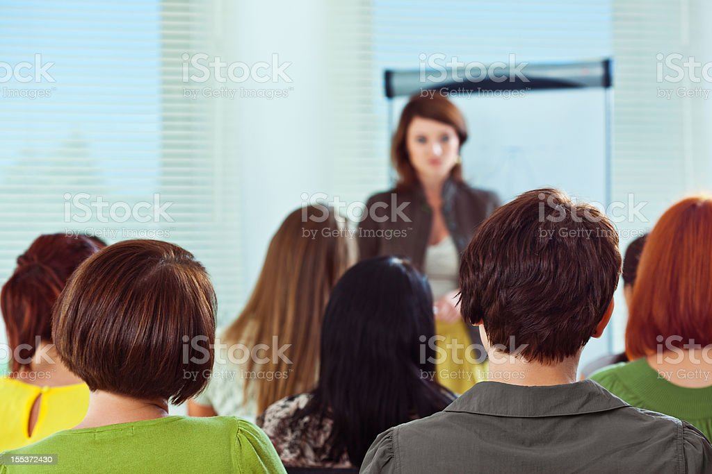 Seminar for woman royalty-free stock photo