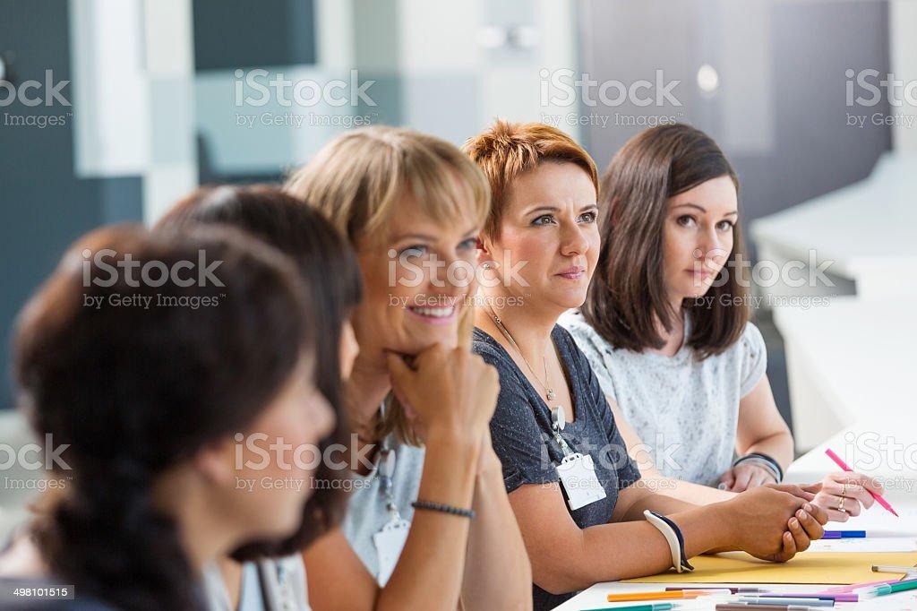 Seminar for women stock photo