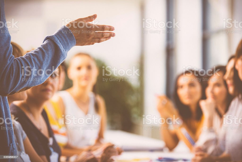 Seminar for women stock photo