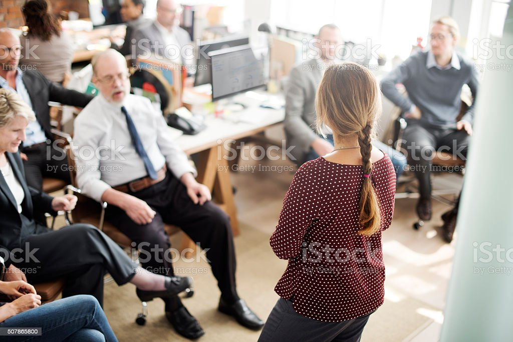Seminar Meeting Office Working Corporate Leadership Concept stock photo