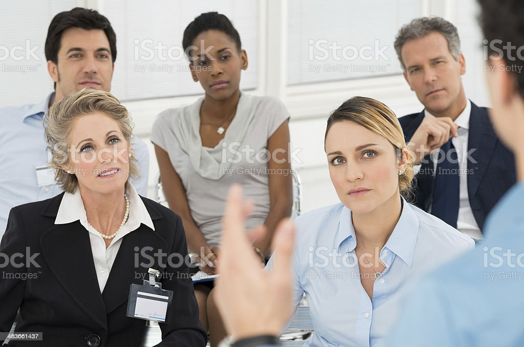 Seminar With Businesspeople stock photo