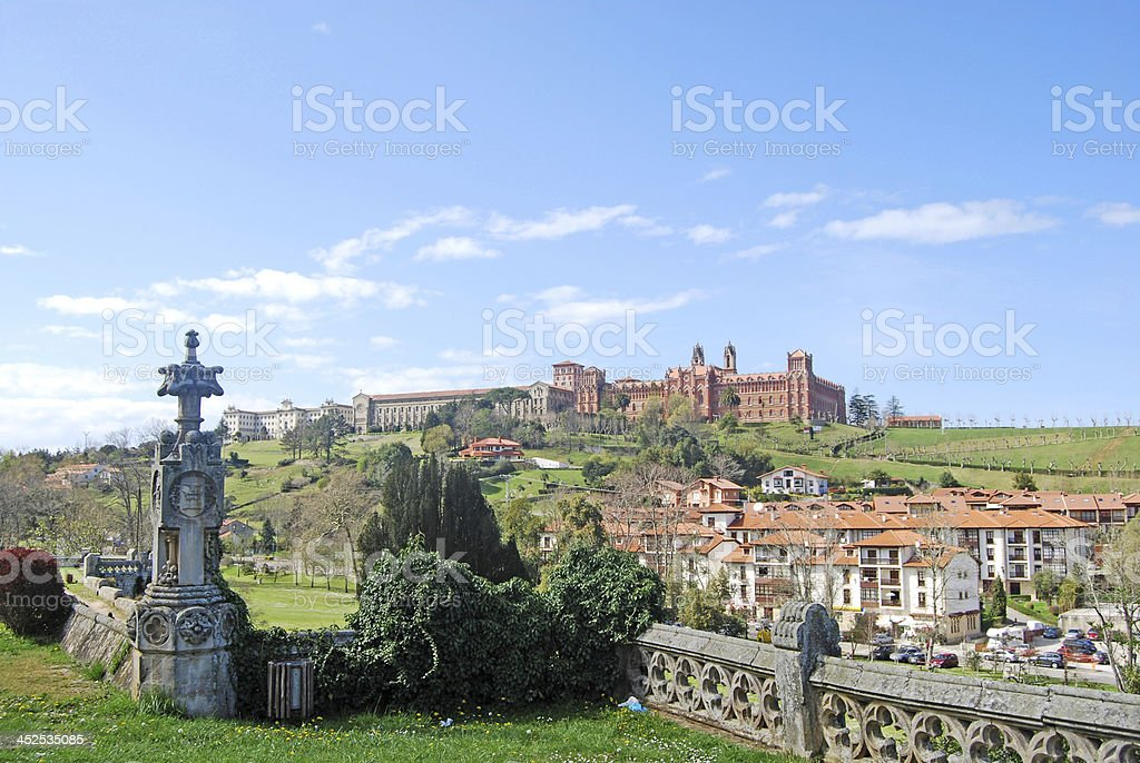 Seminary of Comillas. Cantabria. Spain royalty-free stock photo