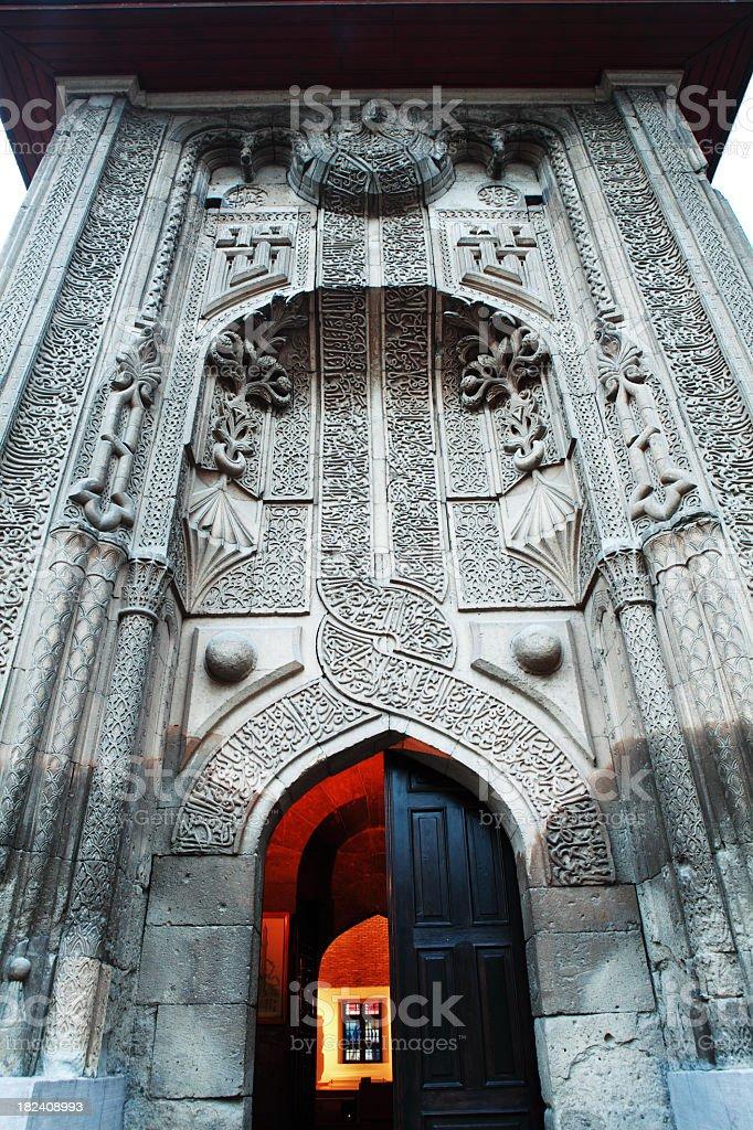 Seminary of the Slender Minaret - Konya stock photo