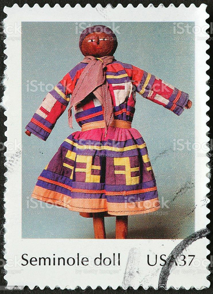 Seminole doll stock photo