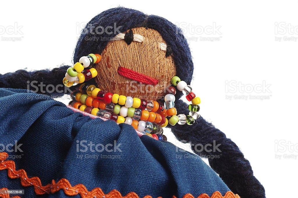 Seminole handmade doll stock photo