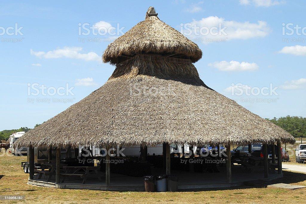 Seminole palapa stock photo