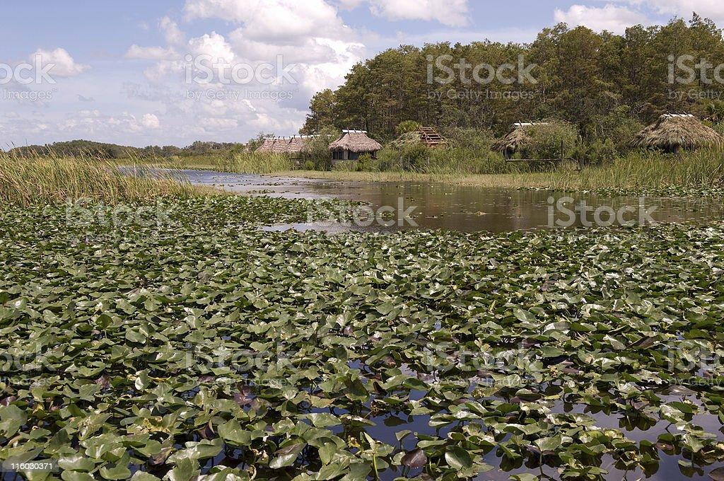 Seminole Village stock photo