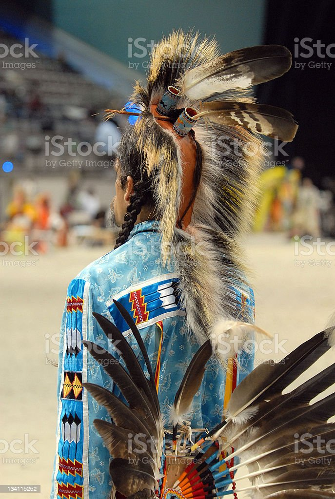 seminole warrior from behind stock photo