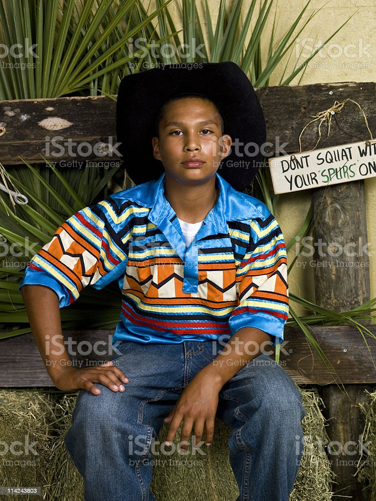 Seminole Young Cowboy royalty-free stock photo