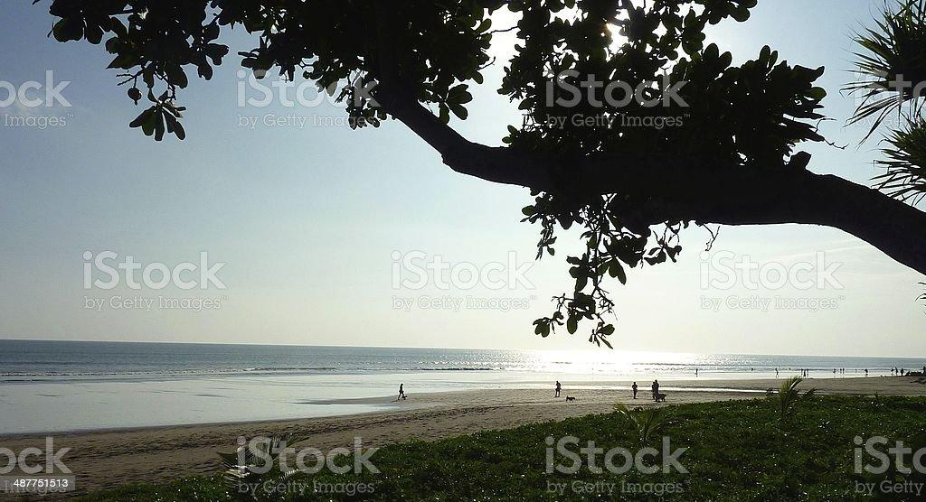 Seminyak Beach in Bali royalty-free stock photo