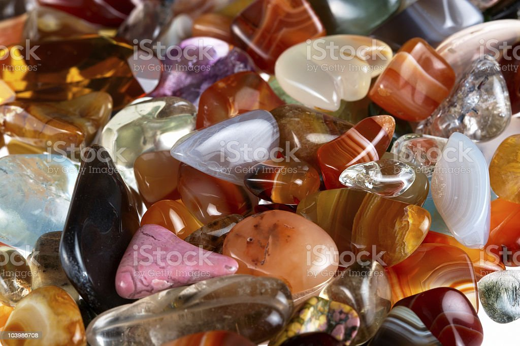 Semi-precious gems royalty-free stock photo