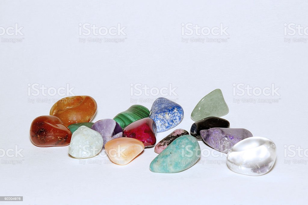 Semi-precious gems stock photo