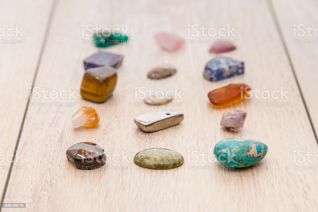 Semi-precious minerals stock photo