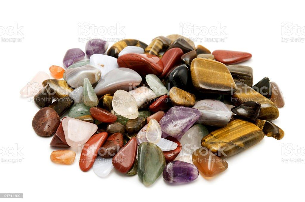 Semiprecious stones royalty-free stock photo