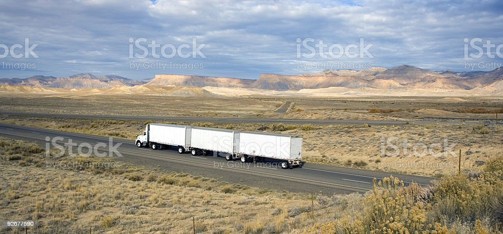 Semi-Truck on the roads of Utah. royalty-free stock photo