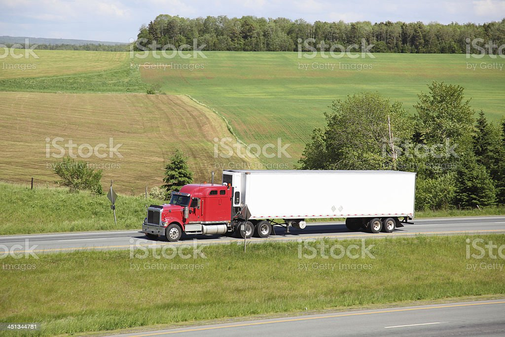 Semi-truck stock photo