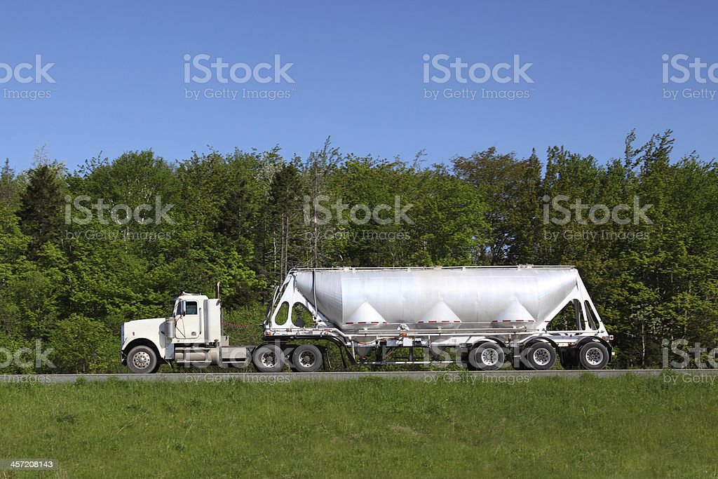 Semi-truck royalty-free stock photo