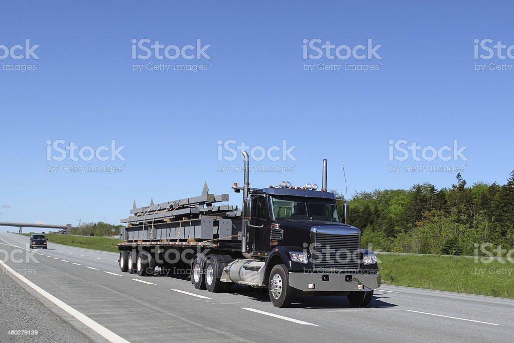 Semi-truck royalty-free stock photo