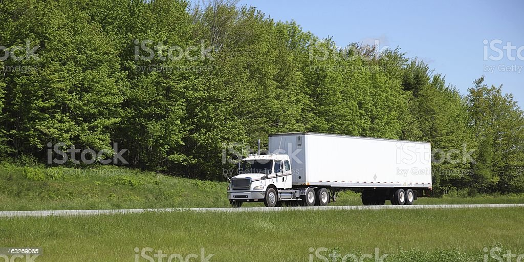 Semi-truck stock photo