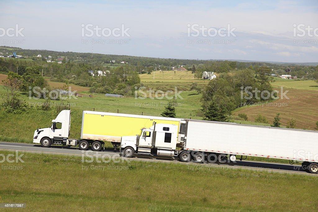 Semi-trucks royalty-free stock photo