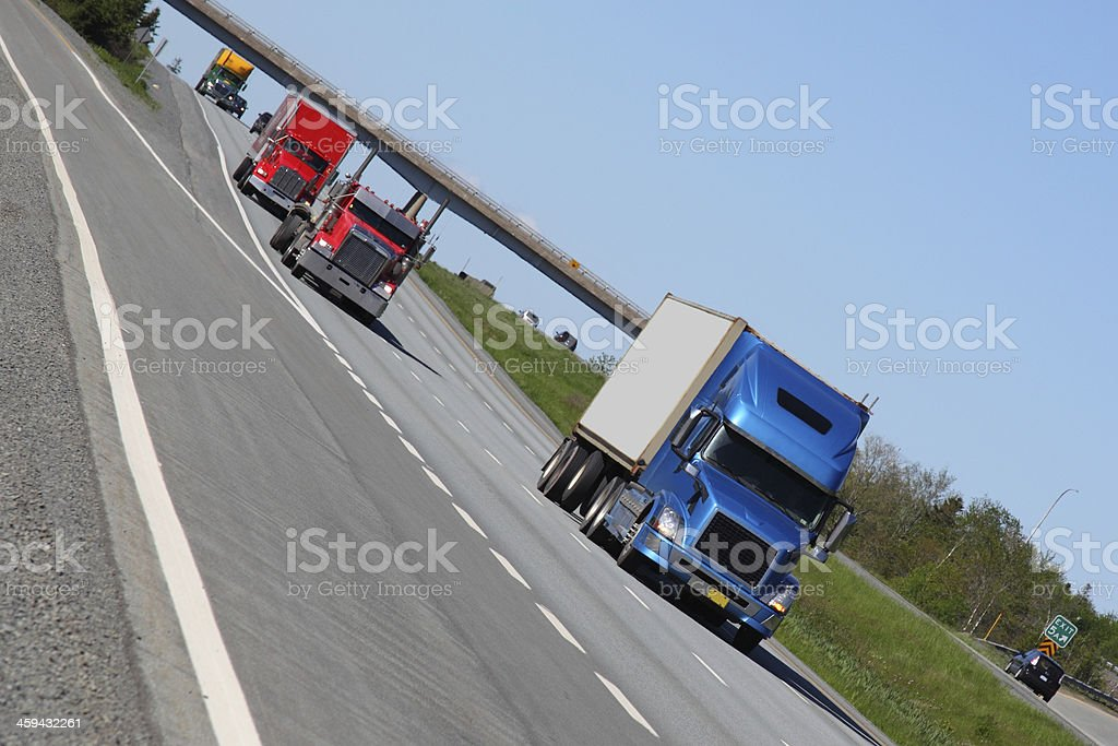Semi-trucks stock photo