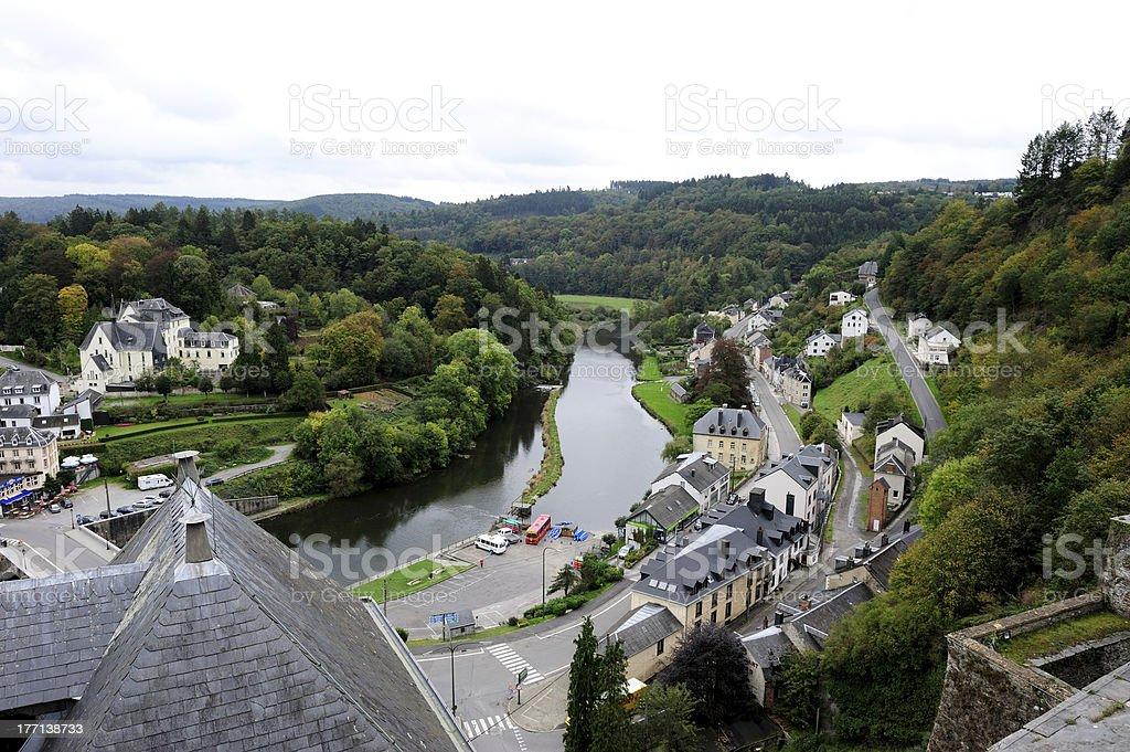 Semois River in belgium stock photo