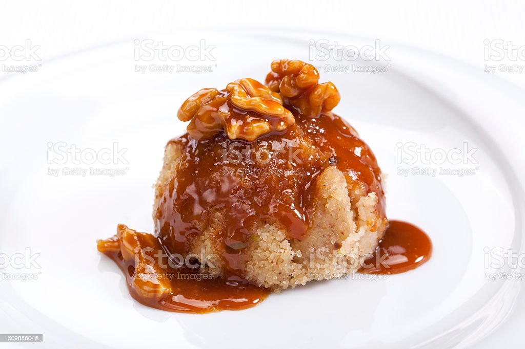 semolina dessert stock photo
