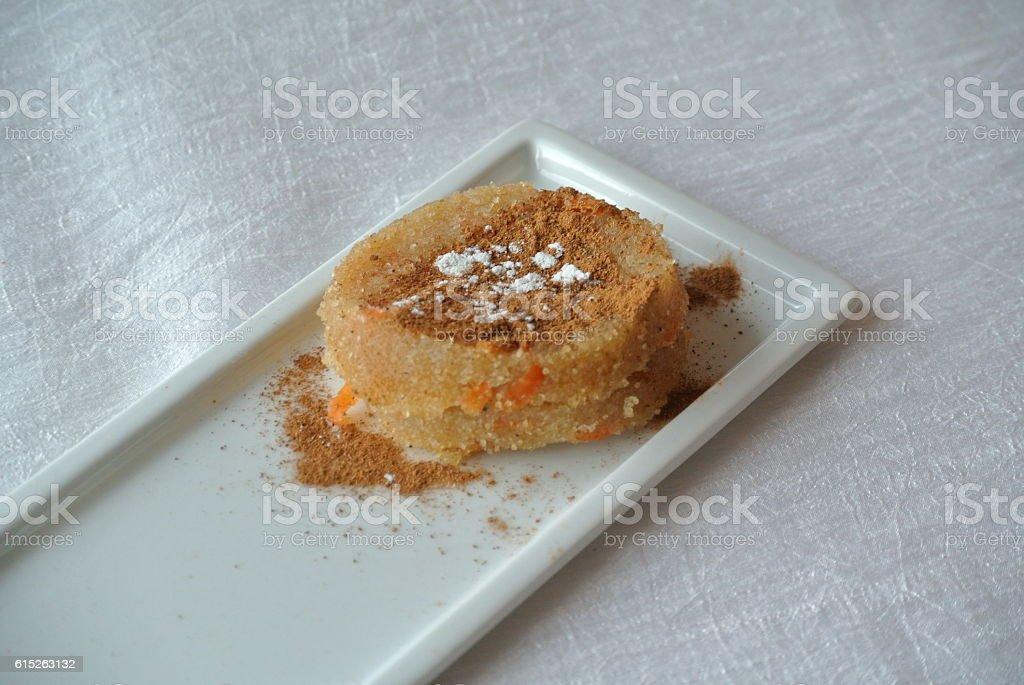 Semolina dessert stock photo