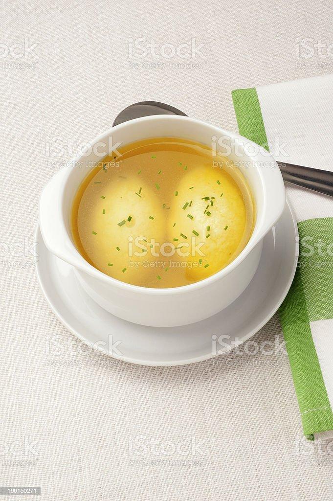 semolina dumplings stock photo