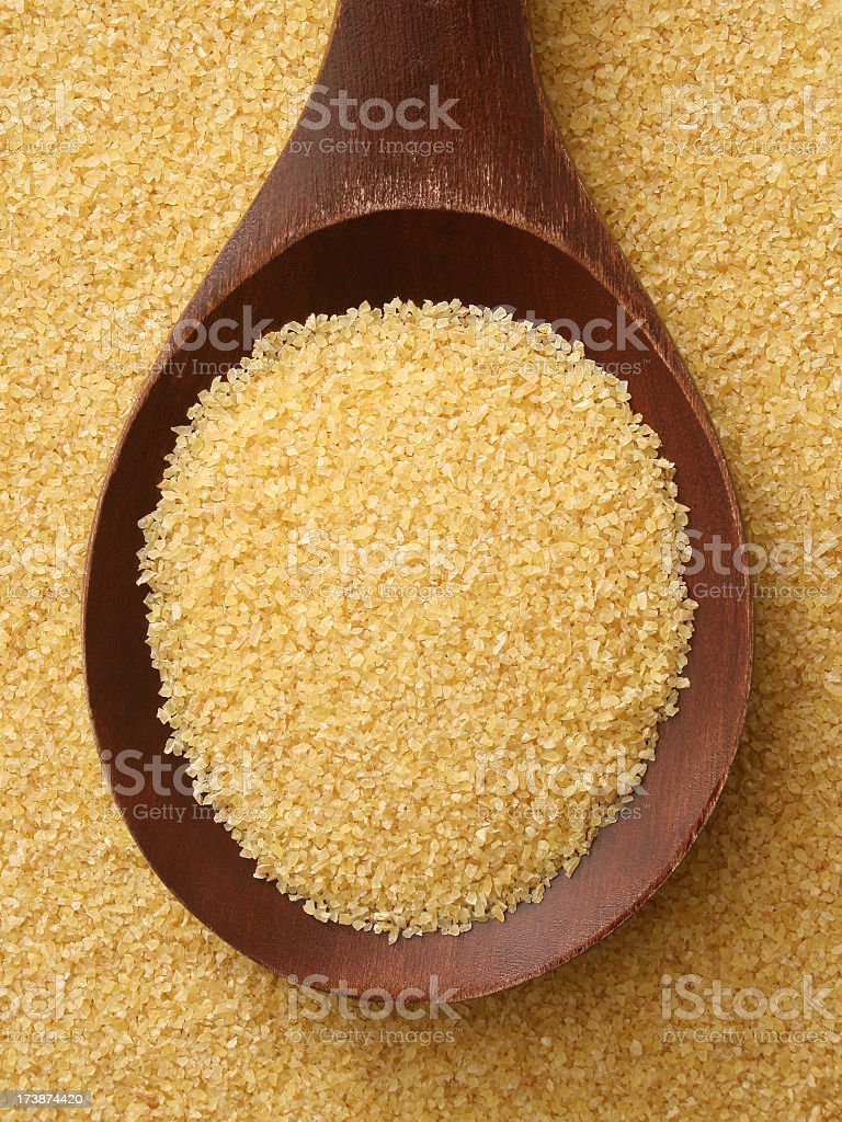 Semolina wheat stock photo