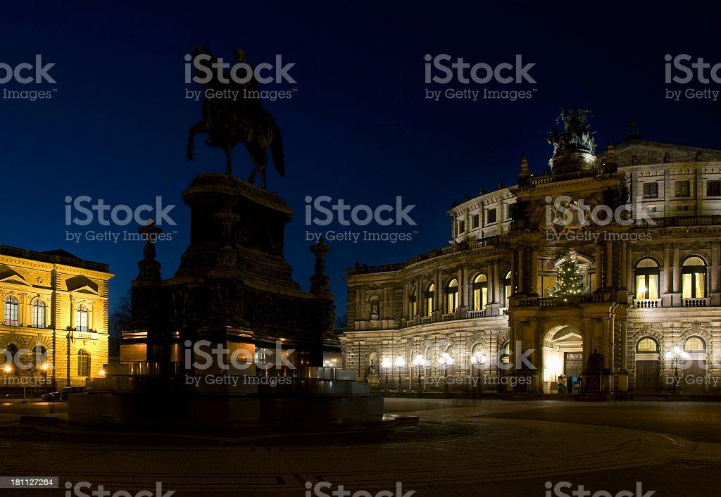 Semper Oper, Dresden royalty-free stock photo